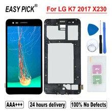 Alta qualidade para lg k7 2017 x230 x230yk x230h x230dsv display lcd de tela toque digitador assembléia para k7i 2017 x230i