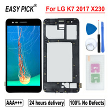 Hoge Kwaliteit Voor Lg K7 2017 X230 X230YK X230H X230DSV Lcd Touch Screen Digitizer Vergadering Voor K7i 2017 X230i