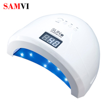 SAMVI Sunone 30PCS UVLED 48W LED UV Nail Gel Curing Quickly Lamp Nail Dryer Light Nail Polish Dryer Nail Art Machine Gel Lamp 48w nail lamp 2in1 smart phototherapy electric machine nail dryer for curing nail gel polish led uv lamp for hand and foot
