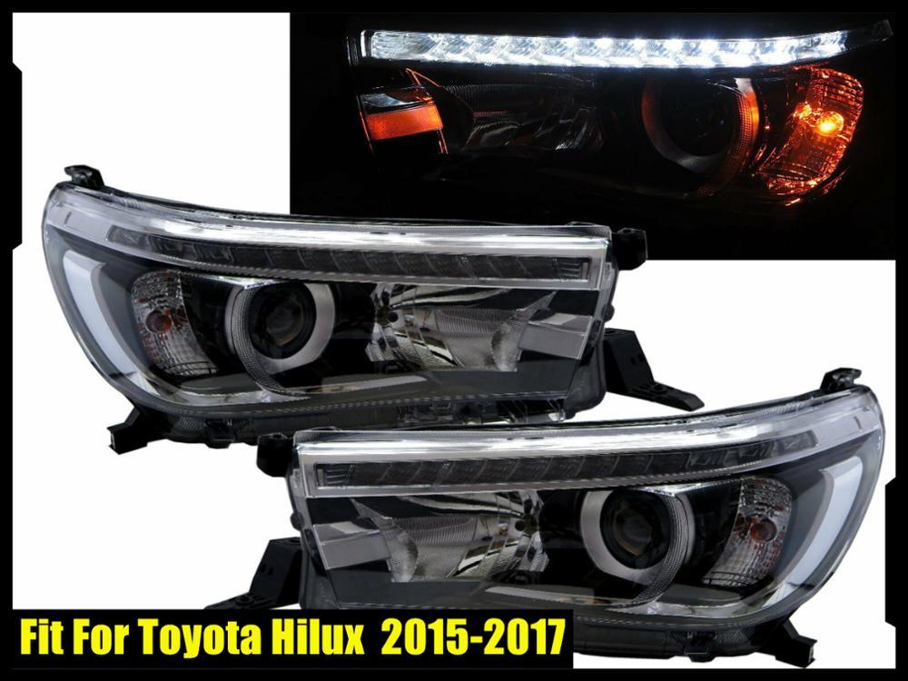 Light Leds Cap Front Roof Spoiler For Toyota Hilux Revo M70 M80 Sr5 2015 2016