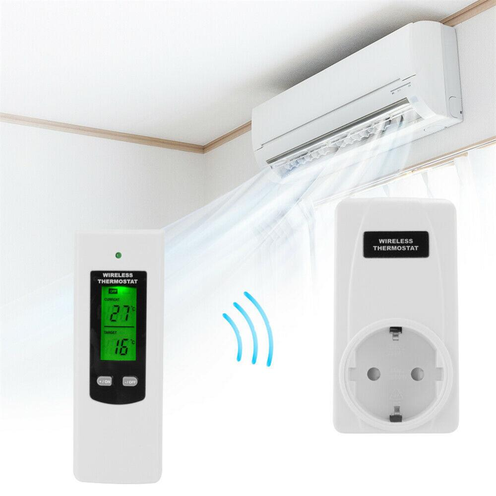 Hot Wireless Thermostat RF Plug Digital Infrared Heating Temperature Sensor Controller PLD