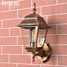 Outdoor Wall Lamp Waterproof Courtyard American Simple Balcony Aluminum LED Rust-proof New Countryside