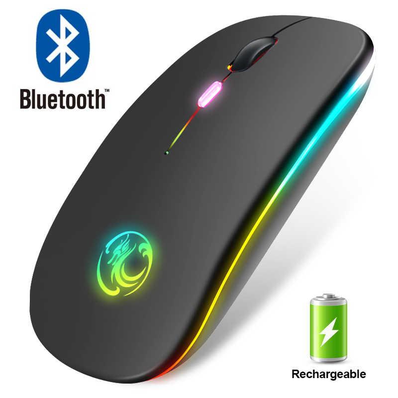 Mouse senza fili Bluetooth Del Mouse RGB Ricaricabile Del Computer Mouse Senza Fili Del Mouse Silenzioso Ergonomica Retroilluminata LED Mause per il Computer Portatile Del PC