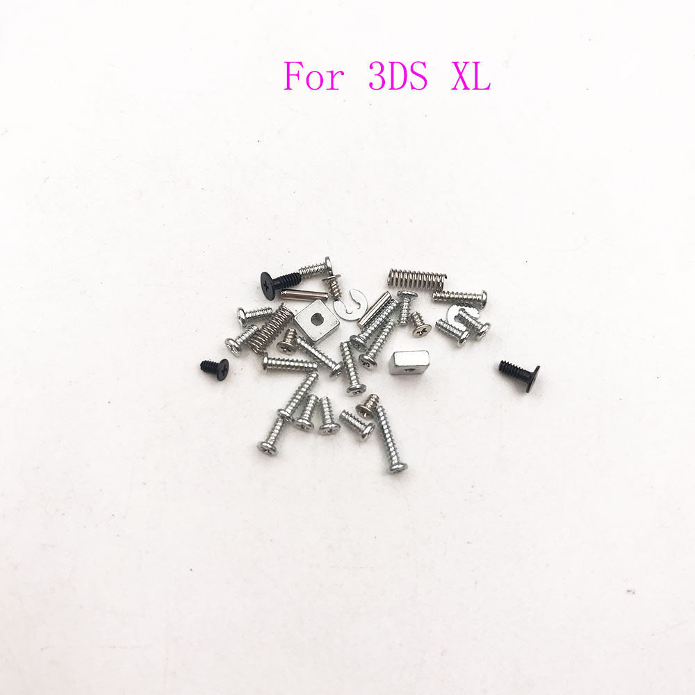 For 3DS LL Full Set Screw Sets Replacement For Nintendo 3DS XL Old Console LR Trigger Spring