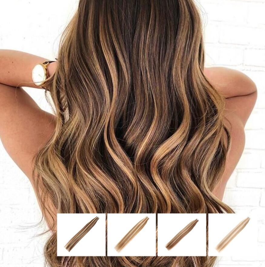 VSR Ombre Tape Hair Extensions Hair Strong Tapes Human Hair US Tape Extensions Machine Remy Thick Ends Style Tape Extensions
