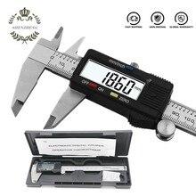 Digital vernier paquimetro 150 200 mm eletrônico régua calibrador calibre pachômetro 6 polegada micrômetro digicaliper