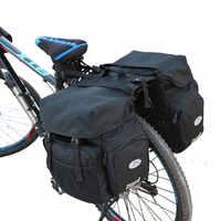 50L Outdoor Bike Attrezzature Bicicletta Posteriore Set Sacchetto di Equitazione Escursionismo Trekking Bicicletta Coda Posteriore Cornici e articoli da esposizione Impermeabile Imballare Le Merci Ripiani
