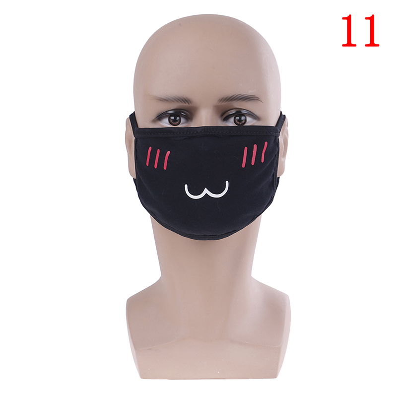 Маска для лица унисекс, хлопковая Пылезащитная маска для лица, маска для лица с рисунком медведя из аниме, женские и мужские Вечерние Маски для лица
