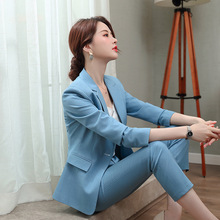 IZICFLY Fall New Style Striped womens suits set 2 pieces pan