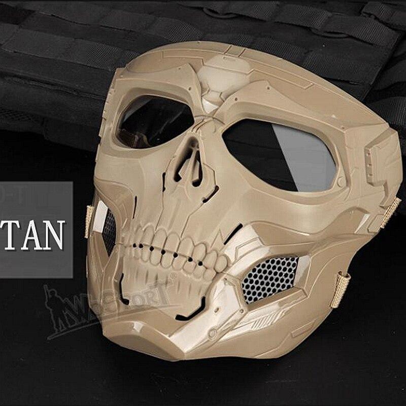 Новая тактическая страйкбольная маска с черепом, Пейнтбольная Военная Боевая полная защитная маска, скелет CS, игра, защитная маска для лица