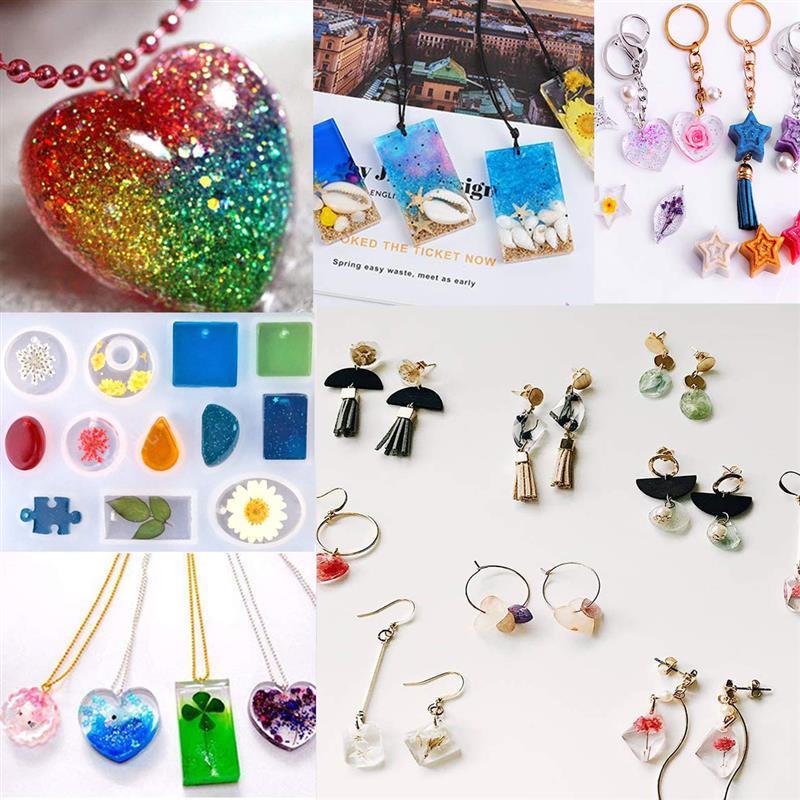 Купить с кэшбэком Resin Jewelry Silicone Molds Tools Set UV Epoxy Resin Moulds Jewelry Making DIY Pendant Heart Alphabet Shaped Molds Jewelry Kits