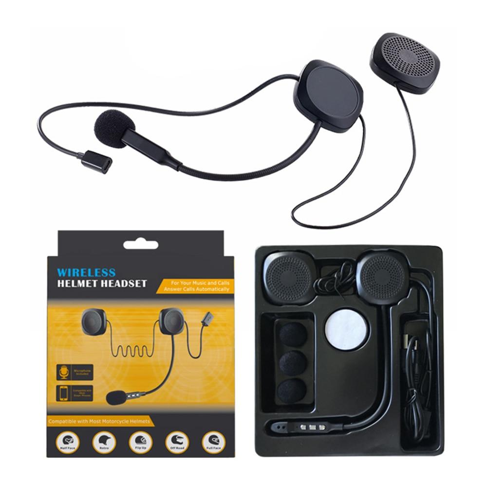 20m Waterproof Moto Wireless Anti-Interference Helmet Headset Hands Free Wireless V4.2 Intercom For Motorcycle