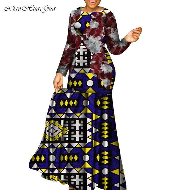 African Women Print Dress Plus Size Bazin Riche Ankara Dashiki Party Night Robes