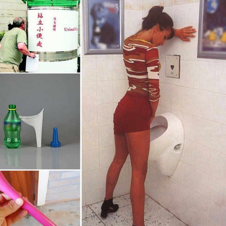Kobiety dziewczyny pisuar miękkiego silikonu oddawanie moczu urządzenie podróży na zewnątrz Camping Stand Up Pee dziewczyna moczu części wc pisuary oprawa