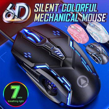 3200DPI LED Optical USB Wired Gaming Mouse 7 Buttons Gamer Computer Mice for computer laptop desktop PC Silent ergonomic mouse