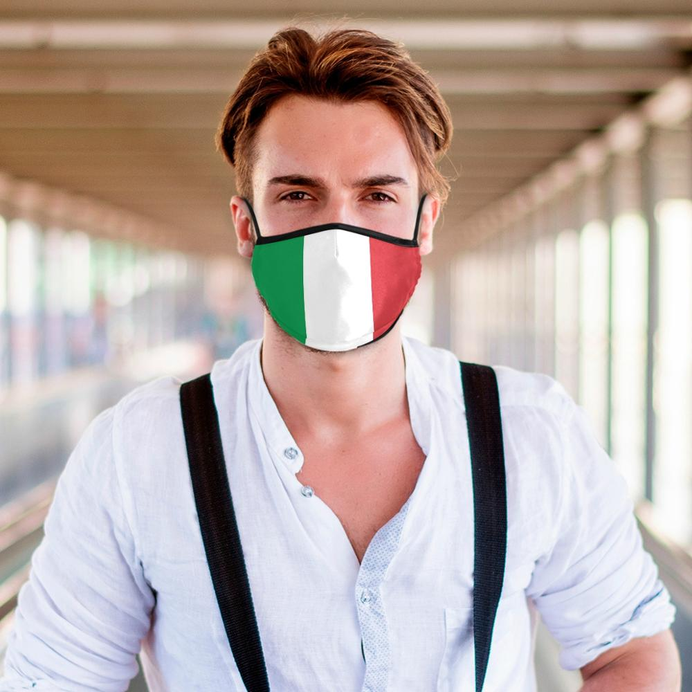 New 3d Print Italy National Flag Military Emblem Adult Mouth Mask PM2.5 Activated Customization Prevent Anti Virus Women