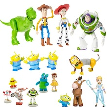 Toy Story 4 Woody Buzz lightyear Jessie Rex lotso Mr Potato Head Aline Little Green Men Spider Baby forky Ducky model Toys woody leonhard green home computing for dummies