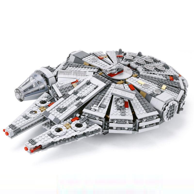 05007 Force éveille Star Set Wars série millénium jouets Falcon Figures modèle blocs de construction jouets pour enfants compatibles 75105