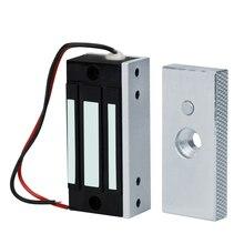 Электромагнитный замок, 60 кг, 12 В, электронный Электрический магнитный замок, мини замок для дверей, фунтов, удерживающая сила для доступа