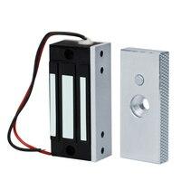 Cerradura electromagnética 60KG 12V electrónica cerradura magnética gabinete Mini cerraduras de puerta 132lbs fuerza de sujeción para acceso a la entrada