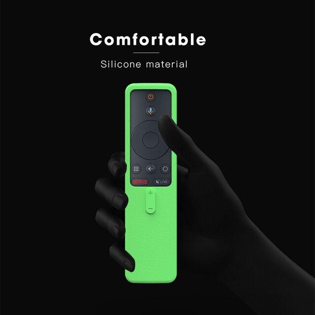 SIKAI Remote Case for Xiaomi Mi Box S 4X Mi TV Stick Control Cover Silicone Shockproof Skin-Friendly Protector 4