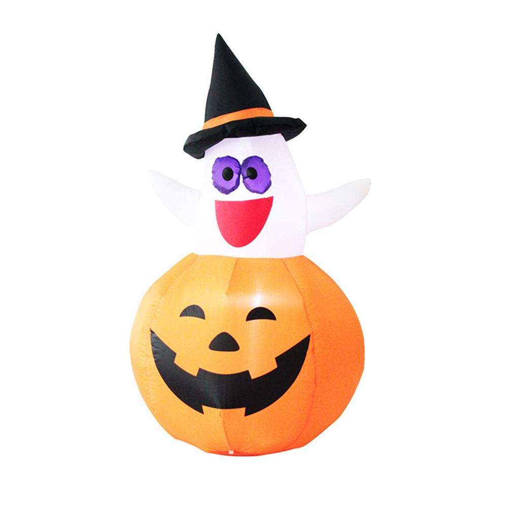 120cm Halloween Decor Inflatable Ghost Pumpkin Outdoor Cute Inflatable Toy Decorative Props For Festival Party Supplies UK/EU/US