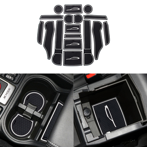 Image 3 - Front Back Door Slot Pad Mat Cup Holders Mats Armrest Storage Box Pad for Subaru Forester 2019 2020 Car Interior Accessories