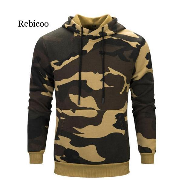 Plus Size Hoodies Camouflage Sweatshirt Men Hip Hop Cotton Tracksuit Sweat Hoodies Male Camo Hoody Military Hoodie US/EUR Size 2
