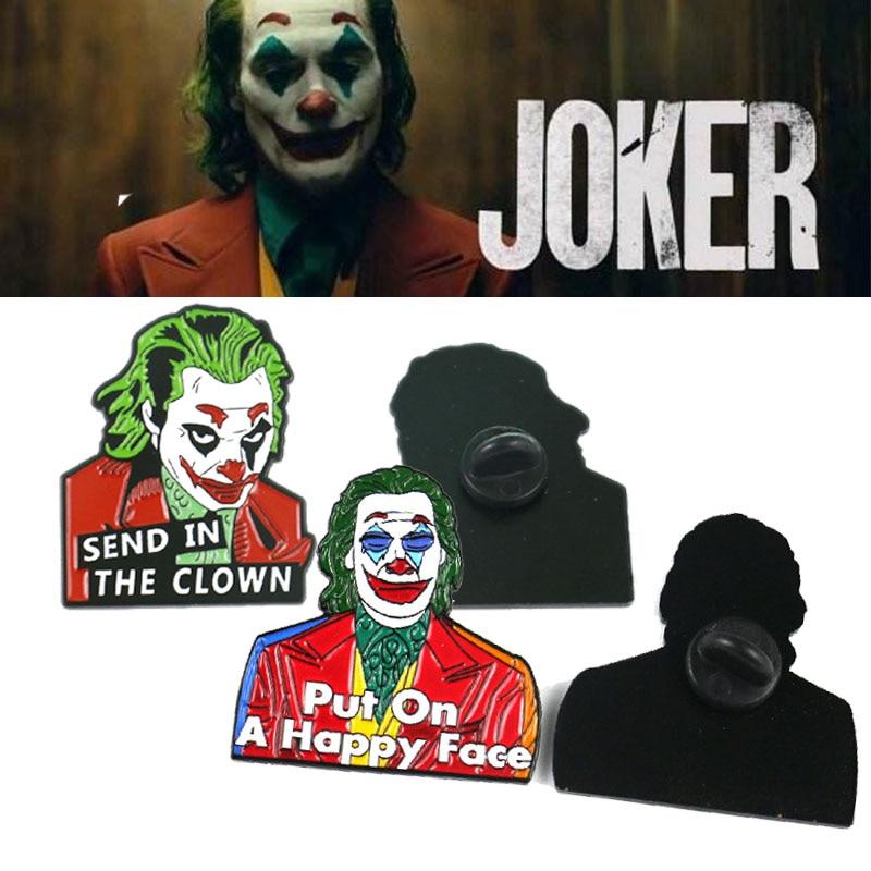 Joker Cosplay Brooch Joaquin Phoenix Halloween Alloy Drip Oil Brooch Pin Badge