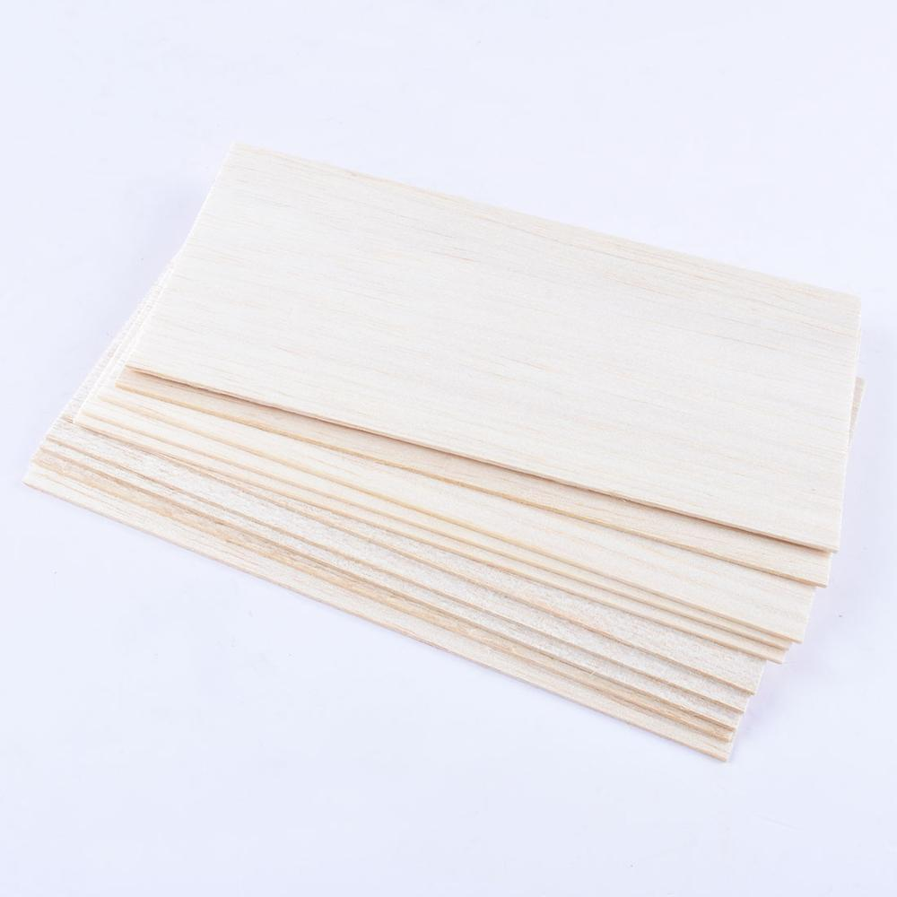 New 10pcs 200*100*1.5mm Wooden Plate Balsa Wood Sheets For DIY House Aircraft Boat Model Toys Craft