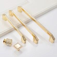 Роскошные золотые серебряные ручки хрустальные из цинкового