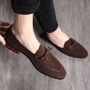 Image 3 - 37 48 حذاء رجالي الأخفاف تنفس العلامة التجارية الكلاسيكية زائد حجم الأزياء مريحة أنيقة الفاخرة حذاء كاجوال الرجال #7719