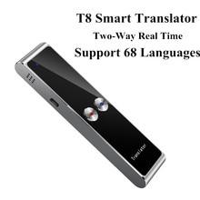 T8 נייד מיני אלחוטי חכם מתורגמן 68 רב שפות דו כיוונית אמיתי זמן מתורגמן עבור ללמוד נסיעות עסקים ישיבות