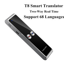 T8 Portable Mini Wireless Smart Translator 68 Multi Languages Two Way Real Time Translator for Learn Travel Business Meeting