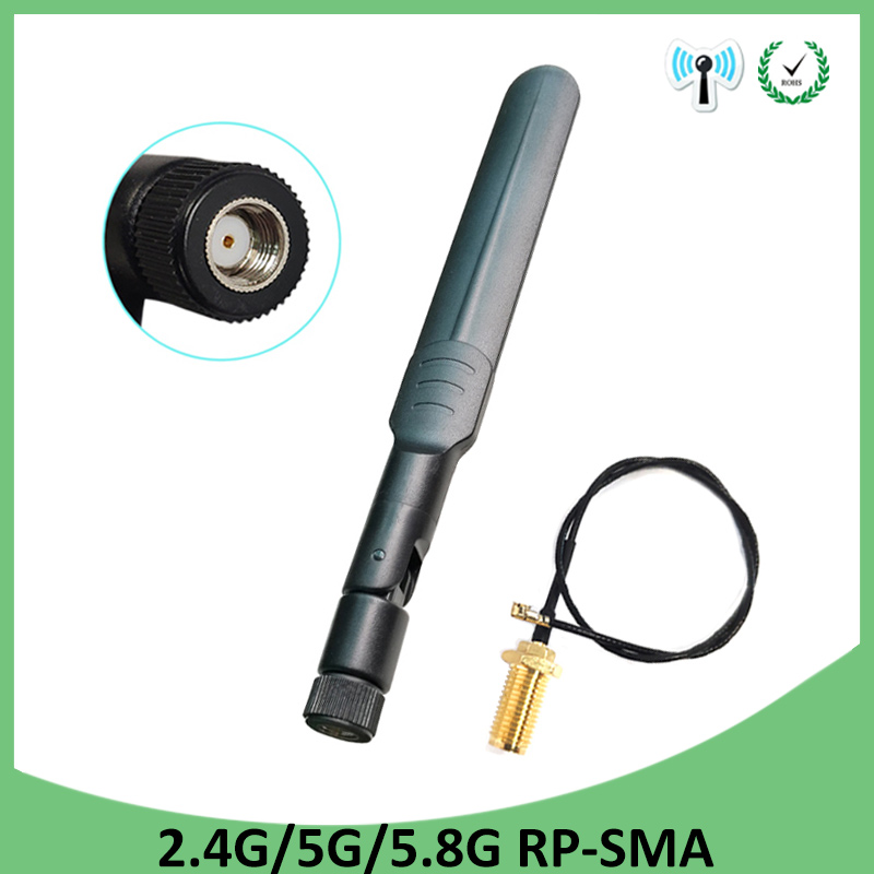 2.4GHz WiFi Antenna 5dBi Aerial RP-SMA Male Connector 2.4 Ghz Antena Wi-fi Router +21cm PCI U.FL IPX To SMA Male Pigtail Cable