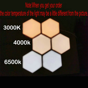 Image 2 - Quantum Lamp Touch Sensitive Lighting Night Light Magnetic Hexagons Creative Decoration Wall lampara For Restaurant Marrying