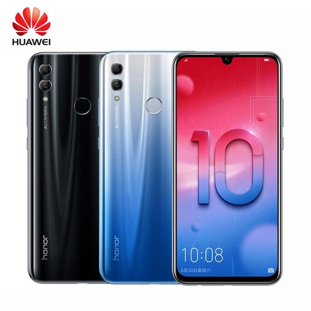 Honor 10 Lite Android 9.0 6.21inch 3+64GB Smart Phone 3400mAh 24MP 3 Camera Mobile Phone AI Camera Fingerprint Octa Core