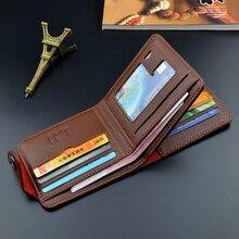 2019 Leather Men Wallets Zipper Pocket Vintage Hasp Short Men Purse Money Bag Wallet Men Credit Card Holder Male Clutch W004