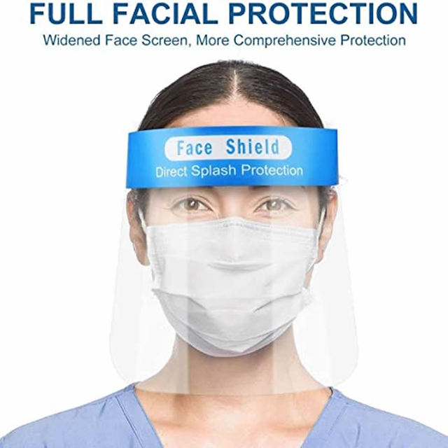50pcs/lot Face Shield Screen Mask Safety Clear Grinding Visor Eye Protection Anti-fog Protective Prevent Saliva Splash Mask 2
