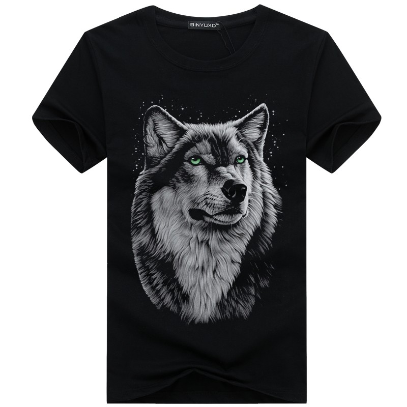 2021 летние новые модные Волчья Голова печати, футболка повседневные размера плюс, топ с короткими рукавами