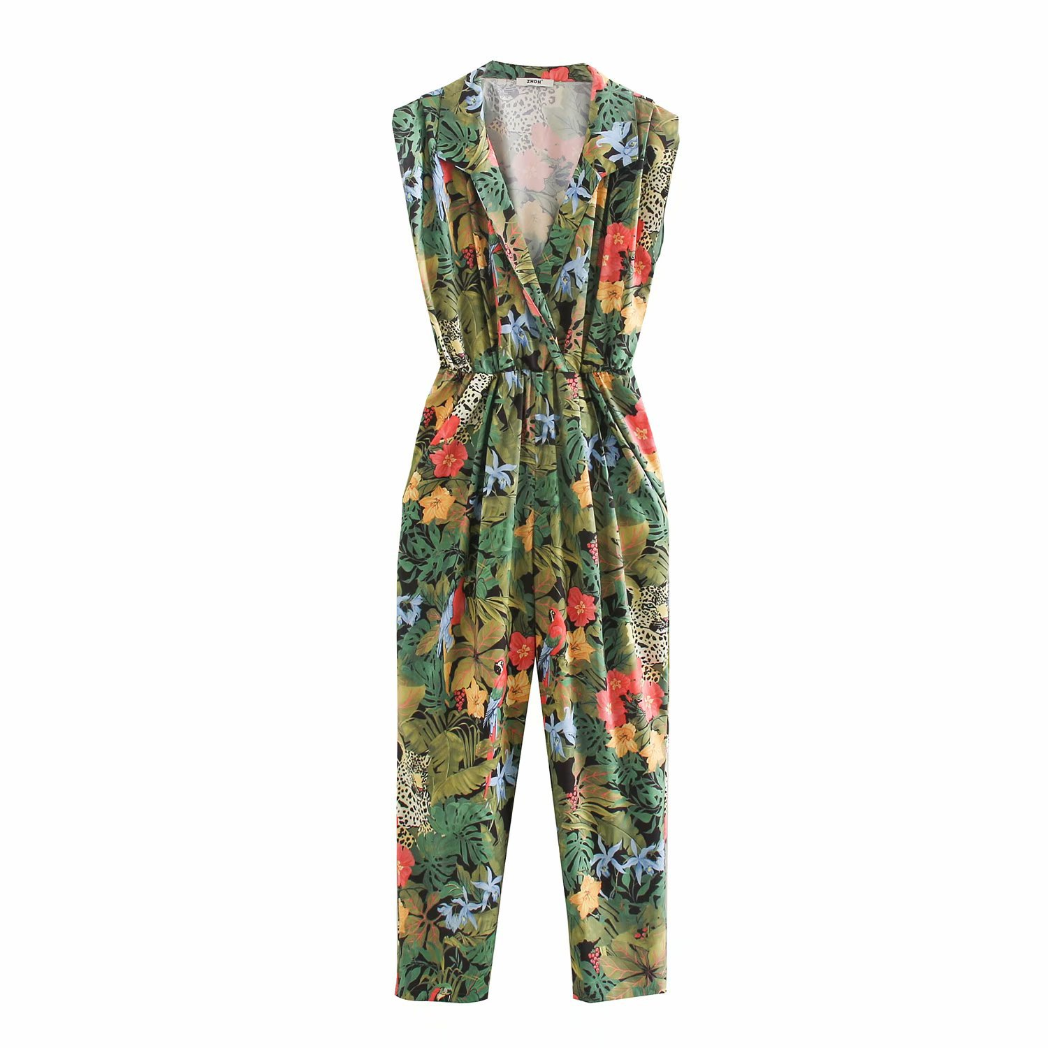 2020 Spring Summer New Grand Prix Print Zaraing Women Jumpsuits Playsuit Sheining Vadiming Ladies Siamese Trousers XDN9532