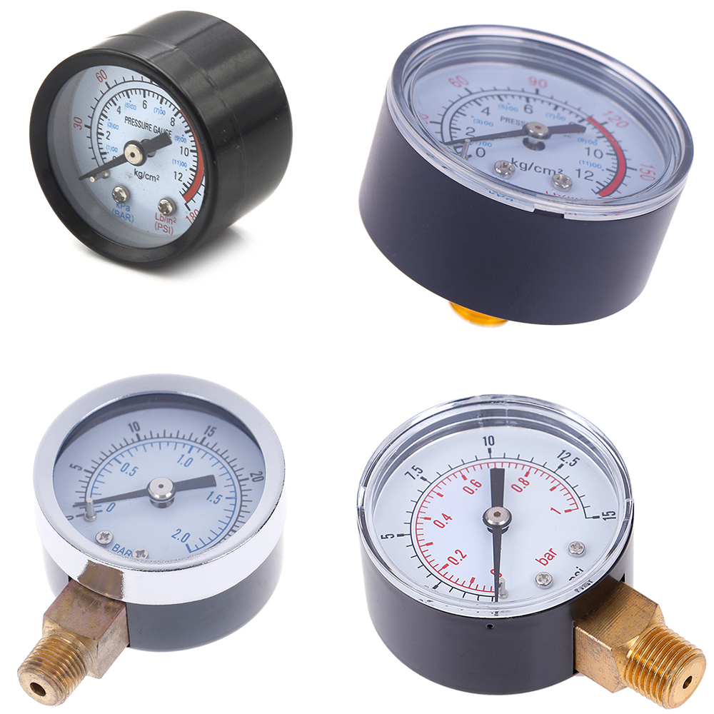 1pc 22/25/40/50mm Diameter Pressure Gauge Low Pressure For Fuel Air Oil Gas Water Oil Gas Measurement