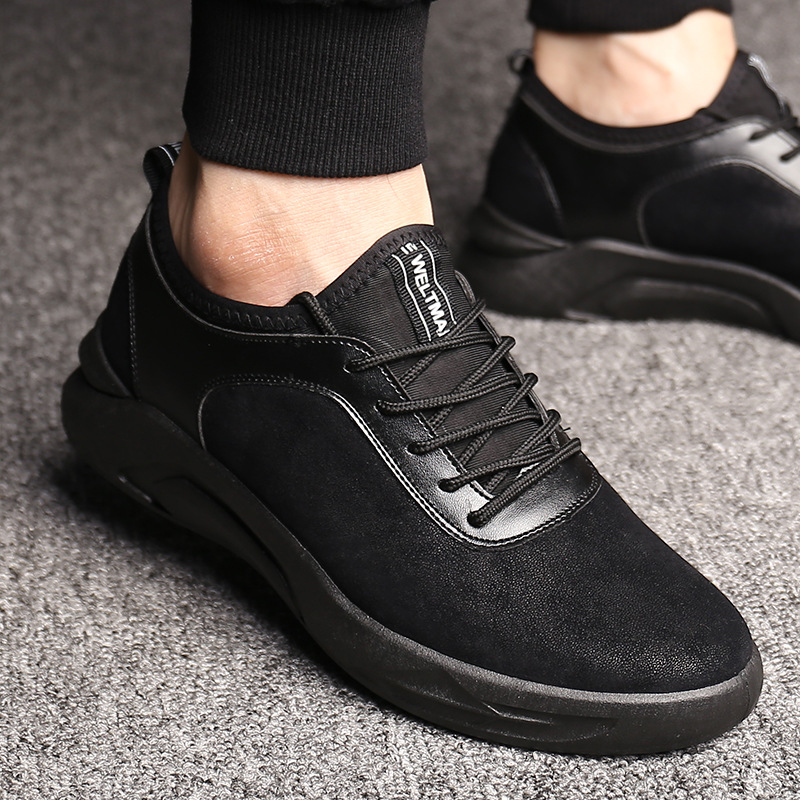 Autumn Winter Men Casual Shoes 2019 Hot Sale Round Head Leisure Men 39 s Shoes Korean Fashion Trend Comfortable Sneakers for Men in Men 39 s Casual Shoes from Shoes