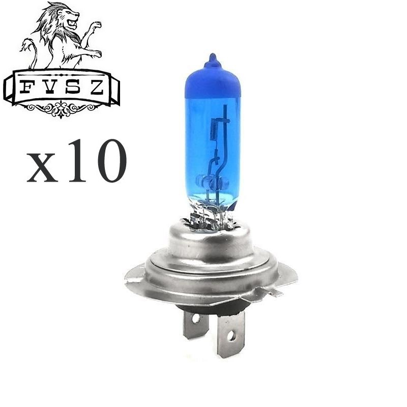 10 Pcs H7 12V 100W 2400lm Cars Halogen HeadLights 5000-6000K Super White light Auto Fog lamps bulb H