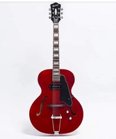 free shipping New High quality P90 pickups archtop guitar jazz electric guitar cherry hollow body guitar