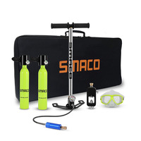 SMACO S300 Diving Equipment Mini Scuba Valve 0.5L Diving Cylinder Scuba Oxygen Tank for Snorkeling Underwater Swimming Breathing