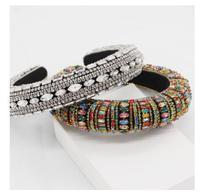 women New Baroque color full diamond luxury hairbands bridal headbands