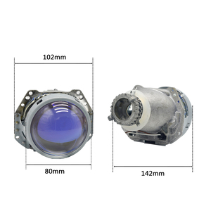 "Image 5 - 3.0 ""revestimento azul de metal completo h4 hella5 hid bi xenon retrofit farol do carro para d2s d2h xenon bulbo montagem do carro farol modificar"