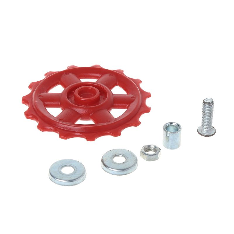 Bicycle Rear Derailleur Wheel Plastic 15T MTB Mountain Bike Parts Cycling Guide Roller Bearing Pulley Riding Accessories Q6PB