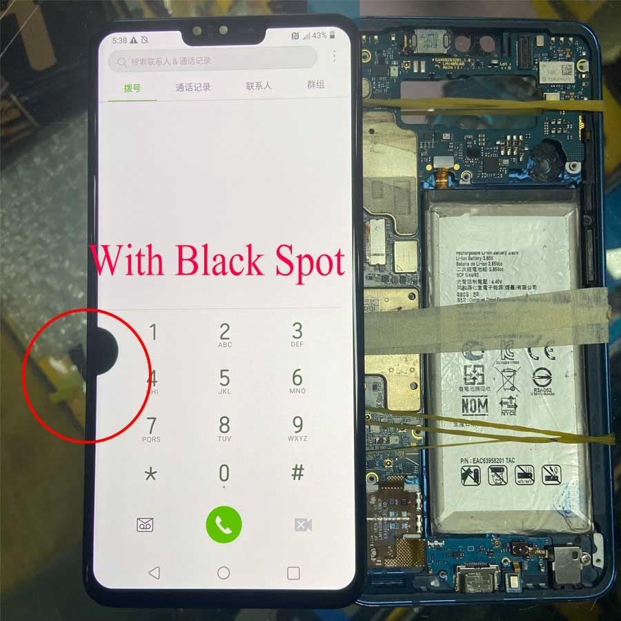 For LG V40 LCD Display Touch V405QA7 V405UA LCD Display For LG V405 LCD Band Black Spot Display Mobile Phone Defective Screen